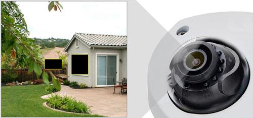 DH-HAC-HDBW2241FP-A-0280B - Przykładowe zastosowanie stref prywatności w kamerze Dahua.