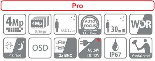 DH-HAC-HDBW2401RP-Z-27135 / DH-HAC-HDBW2401RP-Z-DP-27135 - Ikonki specyfikacji kamery.