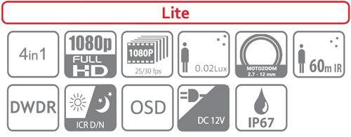 DH-HAC-HDW1200T-Z-2712 - Ikonki specyfikacji kamery.