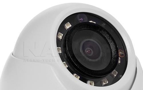 DH-HAC-HDW1220MP-0280B - Wbudowany oświetlacz LED w kamerze.