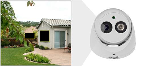 HAC-HDW1200EM-A / HAC-HDW1200EM-POC - Przykładowe zastosowanie stref prywatności w kamerze Dahua.