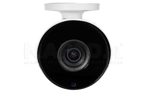 DH-HAC-HFW1200TP - Wbudowany stałoogniskowy 2.8mm obiektyw w kamerze.