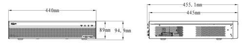 DHI-HCVR5824S-S2 - wymiary rejestratora