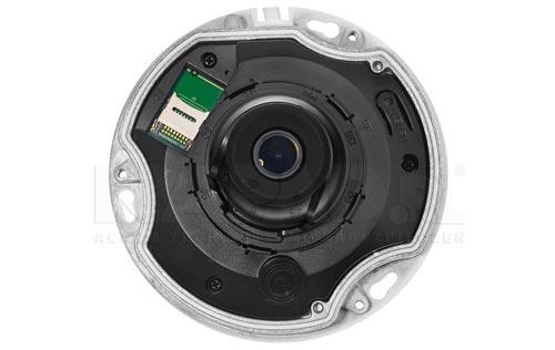 Wbudowany slot karty pamięci microSD w kamerze Dahua.