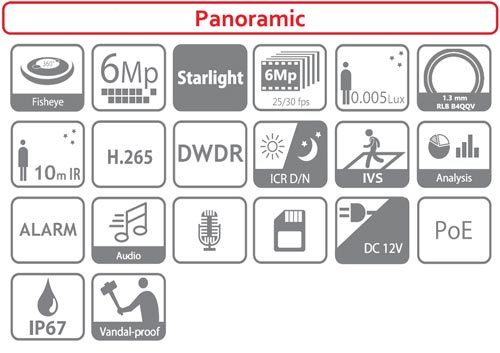 DH-IPC-EBW8630-IVC - Ikonki specyfikacji kamery IP.
