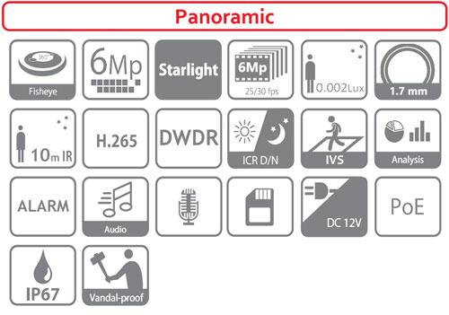 DH-IPC-EBW8630P - Ikonki specyfikacji kamery IP.