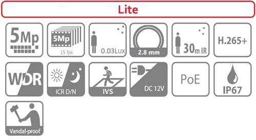 IPC-HDBW1531E-0280B - Ikonki specyfikacji kamery IP.