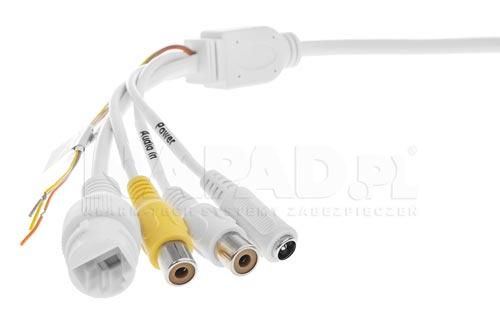 DH-IPC-HDBW4631E-ASE-0280B - Złącza połączeniowe zastosowane w kamerze IP Dahua.