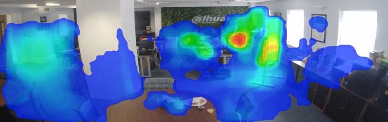 Kamera IPC Dahua z funkcją mapy ciepła.