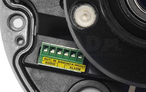 DH-IPC-HDBW8231EP ZH - Wejścia i wyjścia alarmowe w kamerze IP Dahua.