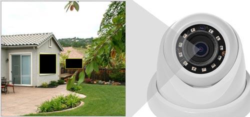 DH-IPC-HDW1531S-0280B - Przykład zastosowania funkcji stref prywatności.
