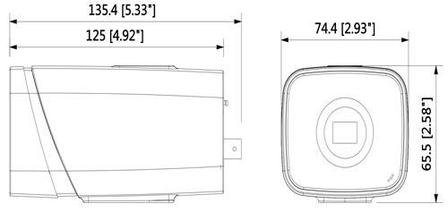 DH-IPC-HF5431E-E - Wymiary kamery megapikselowej (mm [cale]).