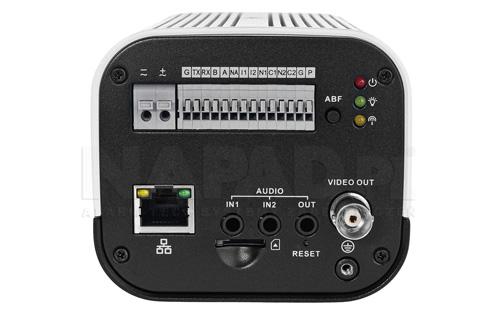DH-IPC-HF8331F-E - Złącza zastosowane w kamerze IP Dahua.