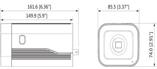 DH-IPC-HF8231F-E - Wymiary kamery megapikselowej (mm [cale]).