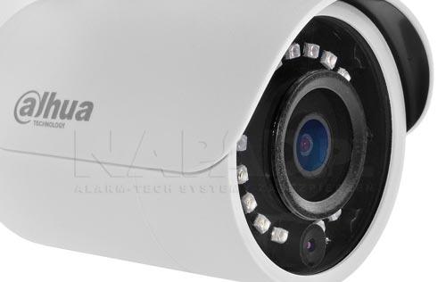 DH-IPC-HFW1230SP-0280B - Wbudowany stałoogniskowy obiektyw w kamerze IP.