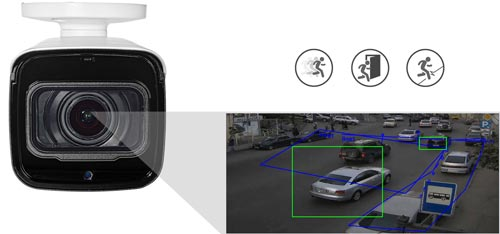 DH-IPC-HFW2431T-ZS-27135 - Inteligentna analiza detekcji obrazu.