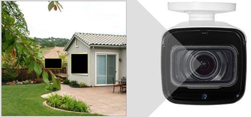 DH-HAC-HFW2241T-Z-A-27135 - Przykładowe zastosowanie stref prywatności w kamerze Dahua.