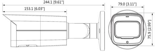 DH-IPC-HFW2431T-ZS-27135 - Wymiary kamery megapikselowej (mm [cale]).