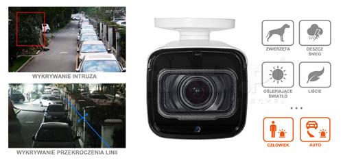 DH-IPC-HFW8241E-Z-27135 / DH-IPC-HFW8241E-Z-0735 - Ochrona perymetryczna w kamerze IP AI Dahua.