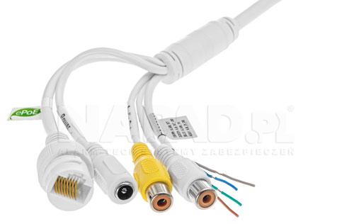 Złącza połączeniowe zastosowane w kamerze IP Dahua.