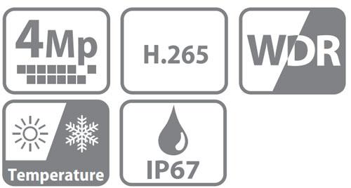 DH-IPC-HFW5431EP-Z - Ikonki specyfikacji kamery IP.