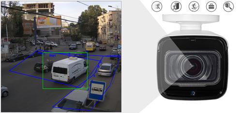 DH-IPC-HFW8231EP-ZHE - Inteligentna analiza detekcji obrazu.