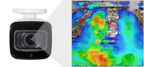 DH-IPC-HFW8231EP-ZHE - Funkcja mapy ciepła.