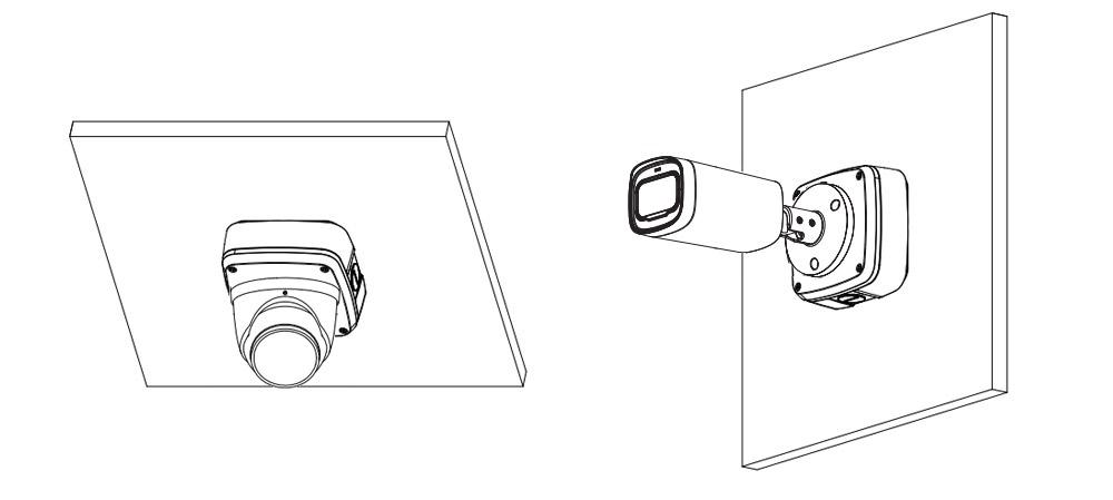 Przykład wykorzystania puszki montażowej Dahua.
