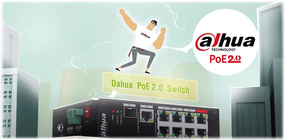 Switche Dahua w technologii PoE 2.0.