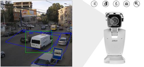 DH-PTZ12240-IRB-N - Inteligentna analiza detekcji obrazu.