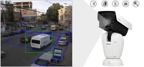DH-PTZ12248V-IRB-N - Inteligentna analiza detekcji obrazu.