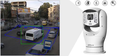 DH-PTZ19240V-IRB-N - Inteligentna analiza detekcji obrazu.