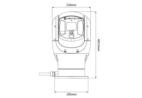 DH-PTZ19245U-IRB-N - Wymiary kamery megapikselowej (mm).