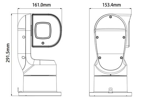 DH-PTZ1A225U-IRA-N - Wymiary kamery megapikselowej (mm).