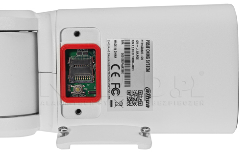 Slot kart microSD w kamerze Dahua.
