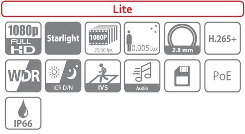 DH-SD12200T-GN-0280B - Ikonki specyfikacji kamery IP.
