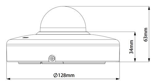 DH-SD1A203T-GN - Wymiary kamery obrotowej Dahua.