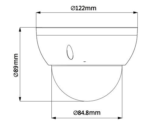 DH-SD22404T-GN - Wymiary kamery obrotowej Dahua.