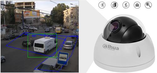 DH-SD22204T-GN / DH-SD22204T-GN-W - Inteligentna analiza detekcji obrazu.
