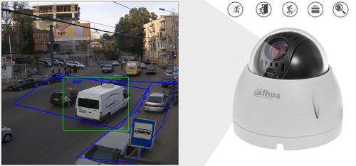 DH-SD42212T-HN - Inteligentna analiza detekcji obrazu.