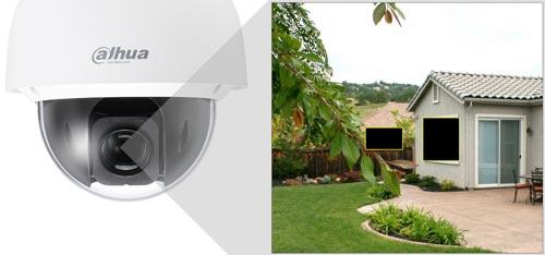 DH-SD50430I-HC - Przykład zastosowania funkcji stref prywatności.
