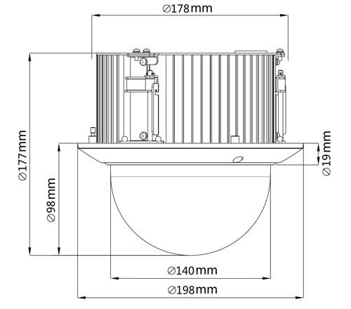 DH-SD52C225I-HC - Wymiary kamery.