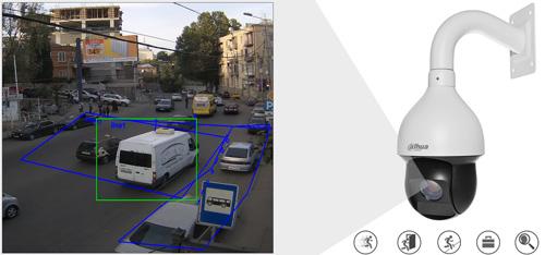 DH-SD59225U-HNI - Inteligentna analiza detekcji obrazu.