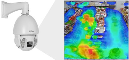 DH-SD6AE530U-HNI- Funkcja mapy ciepła.