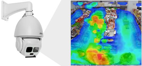 DH-SD6AL245U-HNI-IR - Funkcja mapy ciepła.