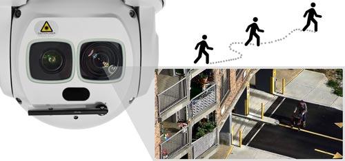 DH-SD6AL245U-HNI - Funkcja Auto-tracking w kamerze PTZ Dahua.