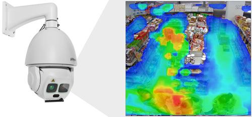 DH-SD6AL245U-HNI - Funkcja mapy ciepła.