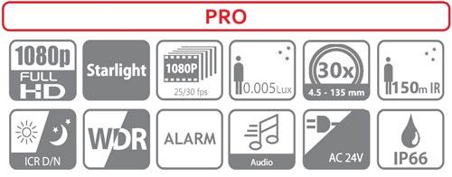 Specyfikacja kamery Dahua.