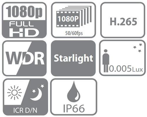 DH-SD6C230U-HNI - Ikonki specyfikacji kamery IP.