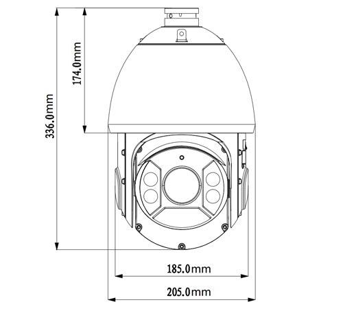 DH-SD6C225I-HC - Wymiary kamery Analog HD.